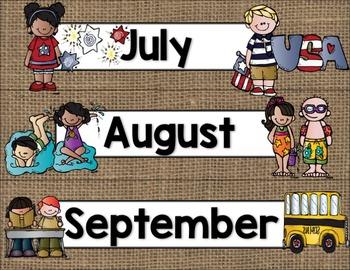 Calendar Helper: Burlap