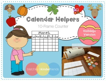 Calendar Helpers - 10-Frames *Holiday Version*