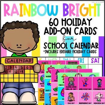 Rainbow Bright Calendar Holiday Cards