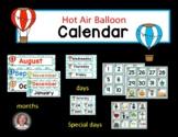 Calendar Hot Air Balloon Theme