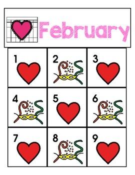 Calendar Icons: ABAB Patterns