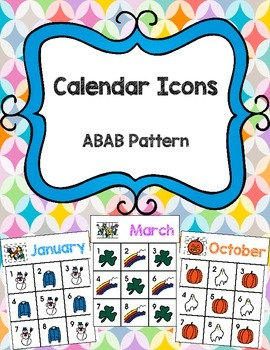 Calendar Icons: ABAB Patterns