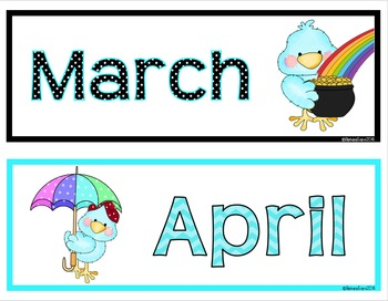 CALENDAR: Calendar Activities, Calendar Numbers, Decor, Math, Aqua & Black Theme