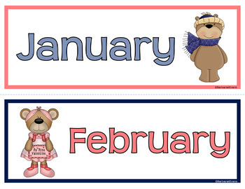 CALENDAR ICONS for Patterning & Predicting: Navy & Coral Edition