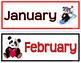 CALENDAR MATH Red Black Panda Theme Classroom Decor Math Activities