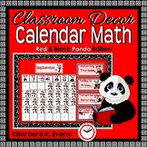 CALENDAR MATH Year Long Activities Red Panda Theme Classroom Decor