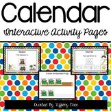 Calendar Interactive Activity Binder