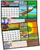 Calendar Interactive Activity Mats 2017-2018