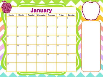 Calendar: January 2016 - Neon Love
