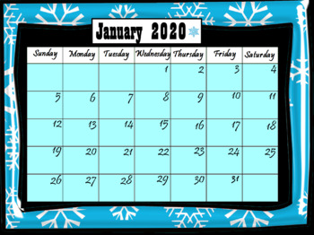 Interactive Calendar 2020 Calendar January 2020 (Interactive) by LOLLIPOP LEARNING | TpT