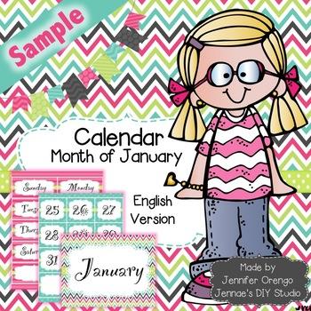Calendar - January Sample