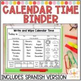 Interactive Calendar Time Binder with Spanish version