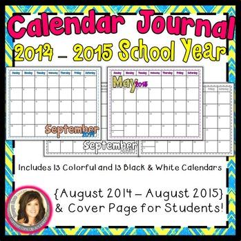 Calendar Journal {2014-2015 School Year}