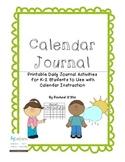 Calendar Journal {Interactive Student Journal for Calendar Time}