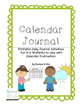 Calendar Journal {Interactive Student Journal for Calendar Time}