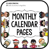 Calendar Journal Monthly Pages
