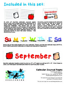 Calendar Journal Pages
