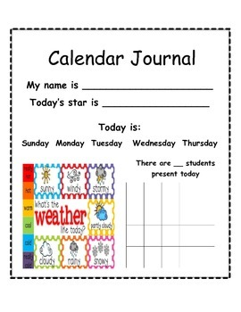 Calendar Journal (Simple)
