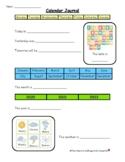Calendar Journal Worksheet