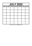 Calendar July 2021 (FREE Blank PDF Format)
