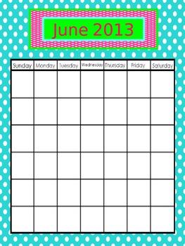 Calendar June 2013- May 2014