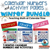 Calendar Number Cards & Activities | Winter Bundle- December, January, February