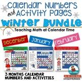 Calendar Number Cards & Activities | Winter Bundle- December, January, February