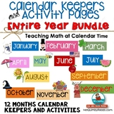 Calendar Number Cards for Entire Year | 12 month Bundle | Math Activities