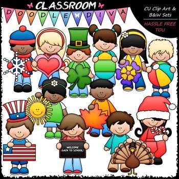 Calendar Kids Clip Art - Monthly Kids Clip Art