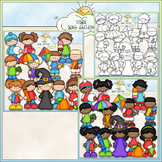 Calendar Kids Clip Art - Monthly Kids Clip Art - CU Clip A