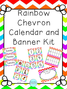 Calendar Kit & Banner - Chevron