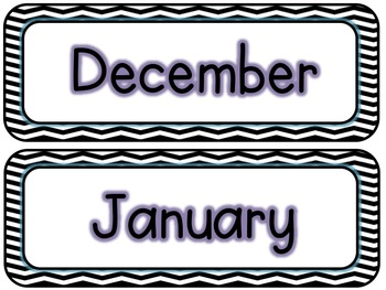 Calendar Kit (Black & White Chevron)