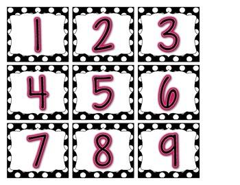 Calendar Kit {Black & White Polka Dots}