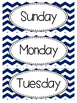 Calendar Kit - Blue Chevron
