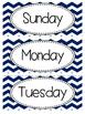 Calendar Kit - Blue Chevron