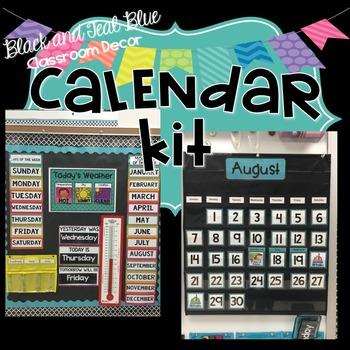 Calendar Kit - Blue and Teal Decor
