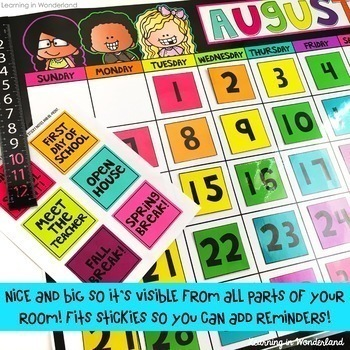 Calendar Kit (Brights Kidlettes Edition)