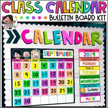 Classroom Calendar Set | Calendar Kit | Classroom Decor | Bulletin Board