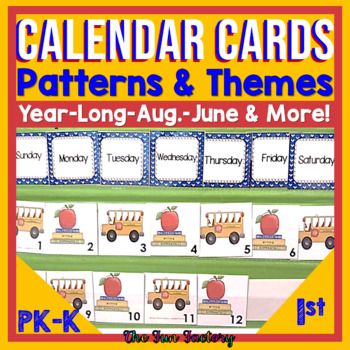 Calendar Kit Pieces For the Year Which Are Themed and Teach Patterns