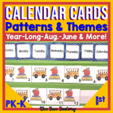 Calendar Monthly Printables For the Year | Themed to Teach Patterns