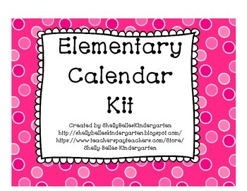 Calendar Kit - Pink Polka Dot