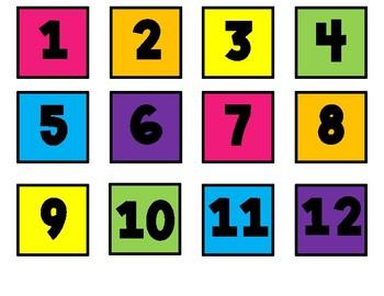 Calendar Kit Rainbow Black & White Version