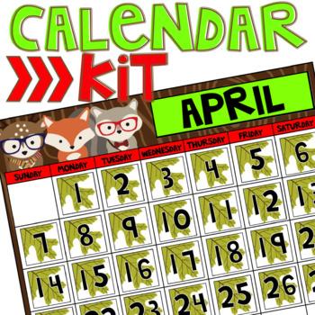 Calendar Kit (Woodland Critters Edition)