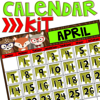 Calendar Kit (Woodland Critters Edition)