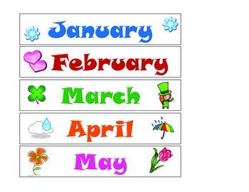 Calendar Kit designed for Centers or Velcro style
