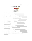 Calendar Knowledge Test