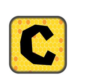 Calendar Label (bee theme)
