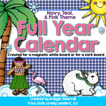 Calendar Labels - All included! (Navy, pink, teal)