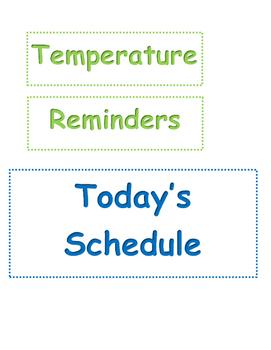 Calendar Labels Blue Green