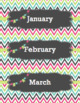 Calendar Labels - Colors - English